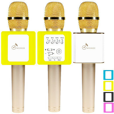 NEW!MicGeek Q9S Upgraded Microphone Bluetooth Karaoke USB Play For Xiaomi iPhone