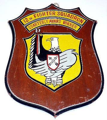 USAF 12th FS FIGHTER SQUADRON PLAQUE
