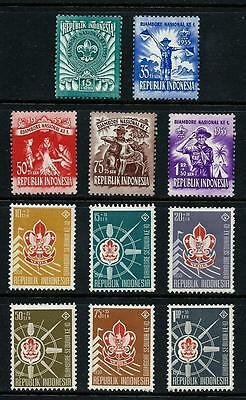 INDONESIA _ 1955-59 'SCOUT JAMBOREE' 2 SETS (11) _ mh ___(461)