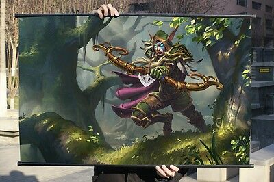 League of Legends Alleria Windrunner Poster Wall Mural Scroll Painting 90*60cm