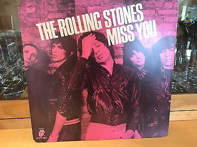 """The Rolling Stones """" Miss You """" / """" Far Away Eyes """" Mint / New 12"""" Pink Vinyl"""
