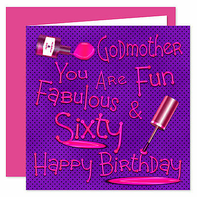 Godmother Happy Birthday Card Age 21 85 Years Lovely Lovely
