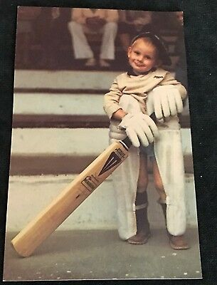 Vintage BATTING IS KID'S PLAY Postcard.  A Must For Cricket Fans.