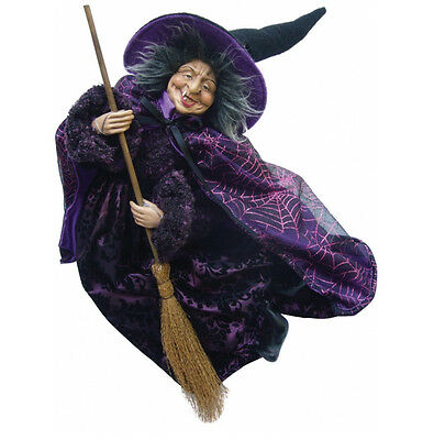 Witches of Pendle - Jemima Witch Flying (Purple) 50cm