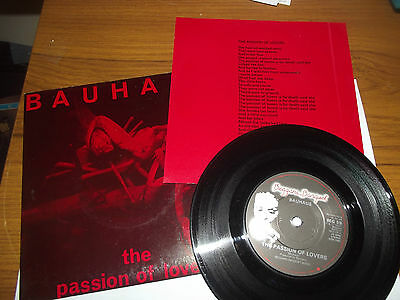 BAUHAUS 7 inch single THE PASSION OF LOVERS
