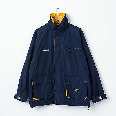 Timberland Weathergear Navy Outdoor Jacket Size L Large Warm Lined Coat