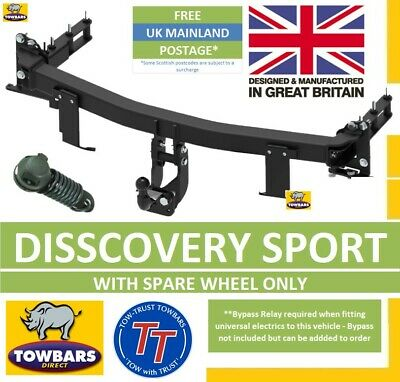 Flange Towbar for Land Rover Discovery Sport 2015on with spare wheel TLAN6 TT