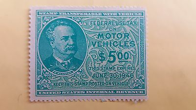 USA $5 Motor Vehicle Use MNH Stamp as Per Photo Great Value