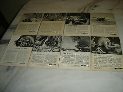40'S Old Portuguese Advertising WWII Second War Lot  BOEING Aircraft Original