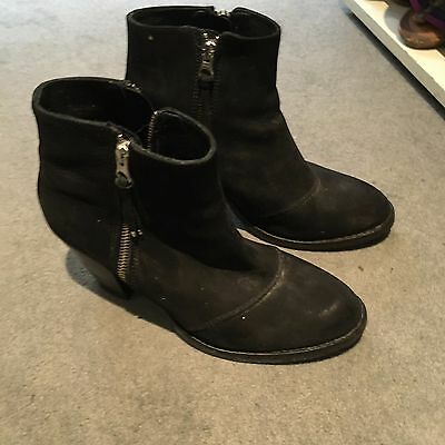 TOPSHOP Black Ankle Boots Size UK 7/40