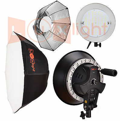 Photography Studio LED Light & Octabox - Dimmable 5600k Photo Video - LuxLight