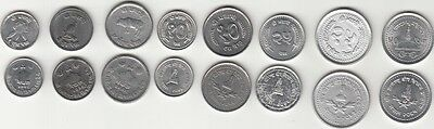 Nepal Coins 8 Different Mint/used