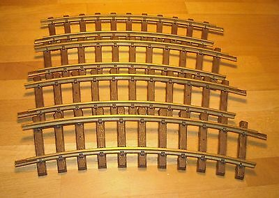 LGB Playmobil Train 4 Curve Brass Track 1100 FREE SHIP WORLD-WIDE L.G.B.