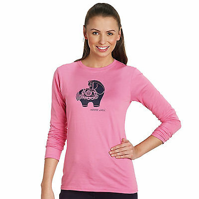 New ** Harry Hall** Pink Ladies Size Medium (10-12) Long Sleeve Fitted Top