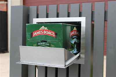 Stainless steel letterbox secure parcel delivery box large fence mounted