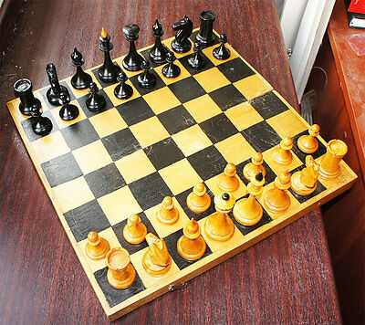 VINTAGE WOODEN CHESS USSR RUSSIAN 37x37 cm OLD RARITY ! BARGAIN