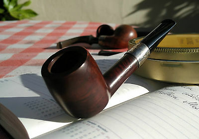 Unsmoked Hand Made Pipe with Sterling band from 1914