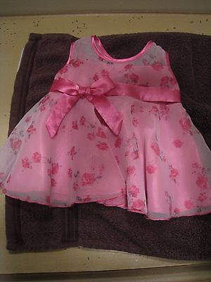 Build A Bear Workshop BABW Pink Floral Dress Outfit Plush Girl Clothes