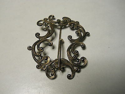 Vintage Estate Jewlery Sterling Silver Filigree Brooch Pin Lot P10