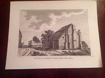 Robertsbridge Abbey Antique Old Print Engraving Sussex 1787