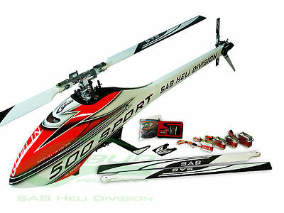 SAB Goblin 500 Sport Combo White with 2 sets of blades SG509