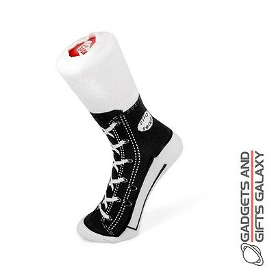 NOVELTY HIGHTOP CONVERSE STYLE SOCKS BLACK SIZE 1-4 Unisex Clothing accessories