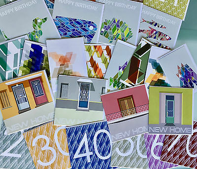 600 Contemporary design pattern Greetings Cards (job lot)