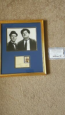 Laurel and hardy signed photo framed