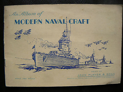 Player's Cigarette Cards - Modern Naval Craft - Complete Set In Album