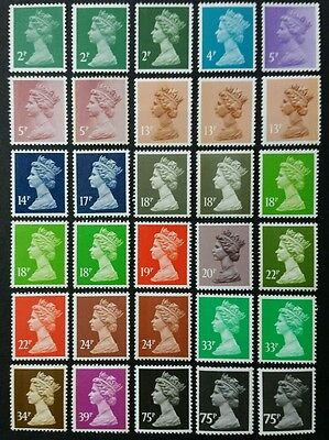 Qeii. Questa Printing. Sg.x1000-X1024. All 30 Post Office Fresh Mint.