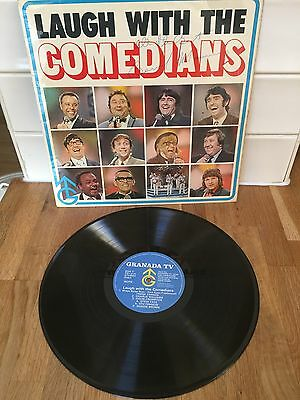 """Laugh With The Comedians Granada Tv 12"""" Vinyl Lp Signed By Bernard Manning"""
