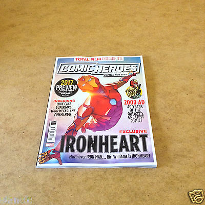 Total Film presents COMIC HEROES #30 JAN 2017 EXCLUSIVE IRONHEART 2000AD & MORE