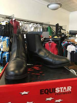 Equi-Star Ladies Black Zip Front All Weather Paddock Boots Size 8.5