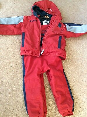 Boys age 3 Columbia ski coat and salopettes