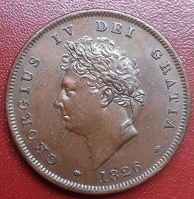 1826 Penny  Uncirculated. Beautiful Chocolate Brown Tone.