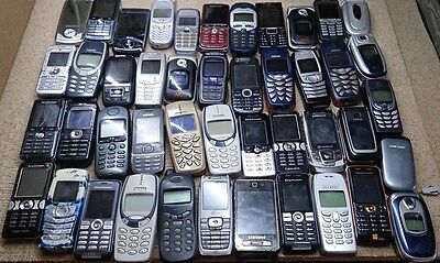 JOBLOT 100xFAULTY/NON WORKING MOBILE PHONES, SOLD AS UNTESTED, SHIPPING TO UK&EU