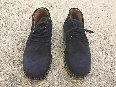 Boys River Island Navy Suede Shoes Size Infant 10 Excellent Condition