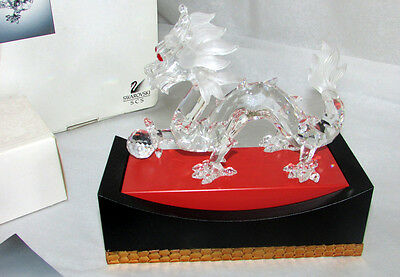 Swarovski Crystal Scs Annual 1997 Dragon Fabulous Creatures With Stand Box Coa