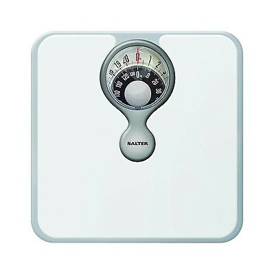 Salter 484 Magnified Display Compact Mechanical Bathroom Weighing Scales White