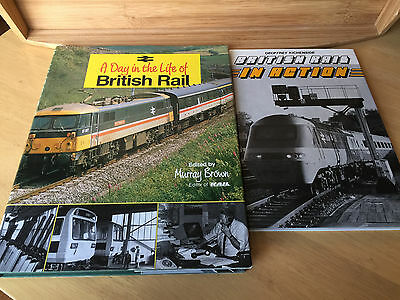 A DAY IN THE LIFE OF BRITISH RAIL & BRITISH RAIL IN ACTION (large hardback book)