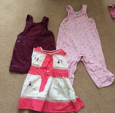 Girls Selection Dress Dungaree Bundle 12-24 Months 1-2 Years