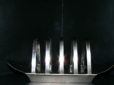 """Old  Hall   Robert Welch Stainless  Steel  4  Sectioned Toast  Rack  Length  7"""""""