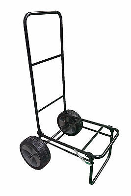"FOLDING FISHING SEAT BOX TROLLEY with 10"" PUNCTURE PROOF WHEELS and STRAP carp"