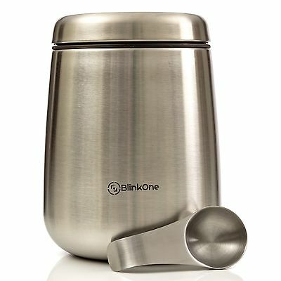 BlinkOne Coffee Canister: Airtight Coffee Bean Container Storage with Magneti...