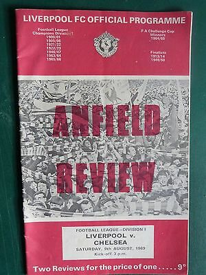 1969 Liverpool v Chelsea Div 1 Programme Excellent Condition.
