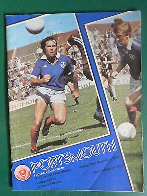 1979 Portsmouth v Wimbledon FA Cup 2nd Round Replay Programme.