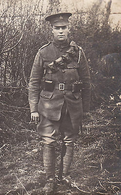 1914 Gb B/w R.p. Postcard / Military / Private / 7Th Queens Hussars