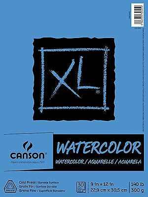 Pro-Art 9-Inch by 12-Inch Canson Watercolor Paper Pad 30-Sheet X-Large