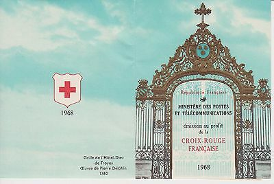 France Red Cross Stamp Booklet 1968 Croix-Rouge Francaise Postes