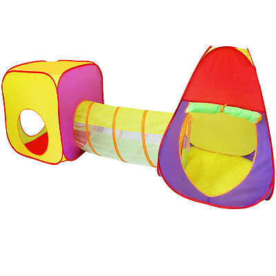 KIDUKU® Childrens Kids Play Tent 3 in 1 Tent Play house with Tunnel Pop-Up
